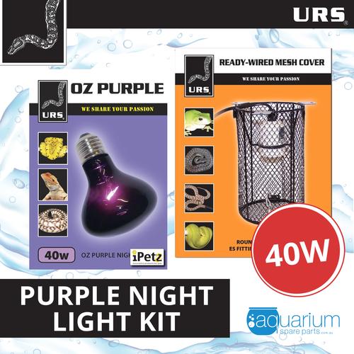 URS OZ Purple Heat Light 40W Kit w/ Mesh Cover