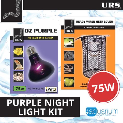 URS OZ Purple Heat Light 75W Kit w/ Mesh Cover
