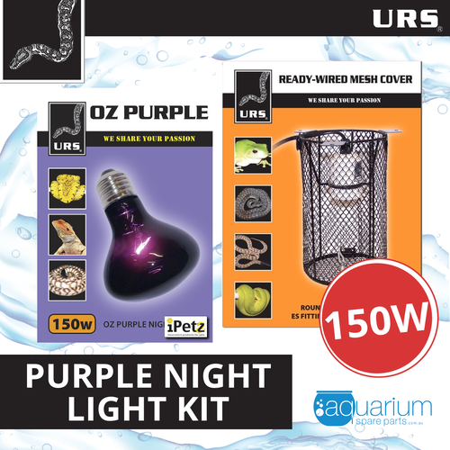 URS OZ Purple Heat Light 150W Kit w/ Mesh Cover