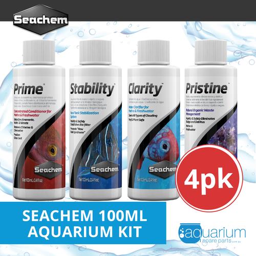 Seachem 100ml Aquarium Kit (4pk)