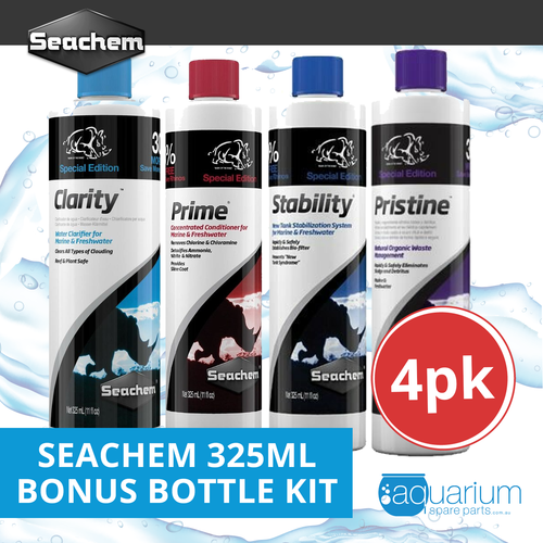 Seachem 325ml Bonus Bottle Kit (4pk)