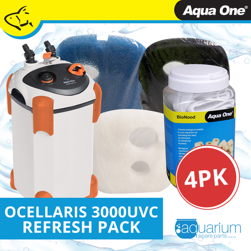 Aqua One Ocellaris 3000UVC Refresh Pack (4pk)
