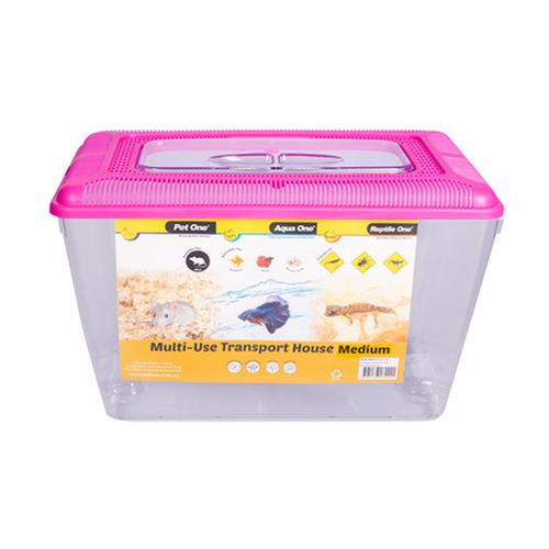 Aqua One Multi-Use Transport House Medium Pink (10052P)