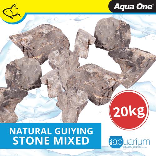 Aqua One Natural Guiying Stone Mixed Sizes 20kg Box (12297)