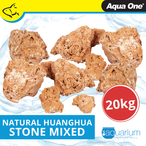 Aqua One Natural Huanghua Stone Mixed Sizes 20kg Box (12299)
