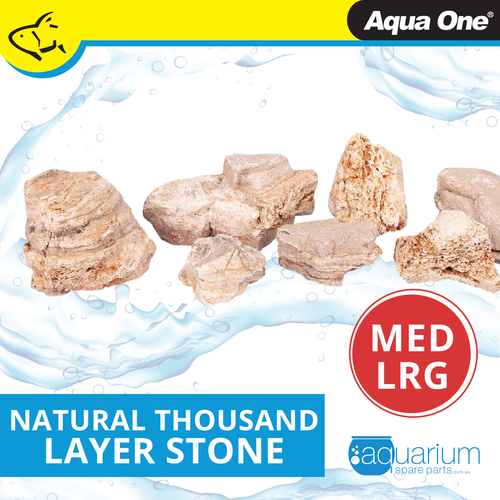 Aqua One Natural Thousand Layer Stone MED/LRG (12296-ML)