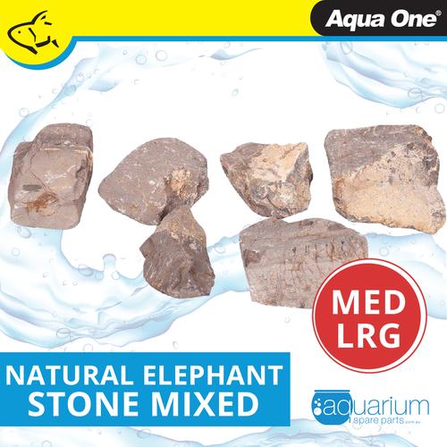 Aqua One Natural Elephant Stone MED/LRG (12298-ML)