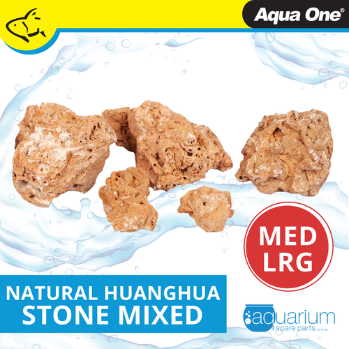 Aqua One Natural Huanghua Stone MED/LRG (12299-ML)