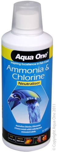 Aqua One Ammonia & Chlorine Neutraliser 500ml (92109)
