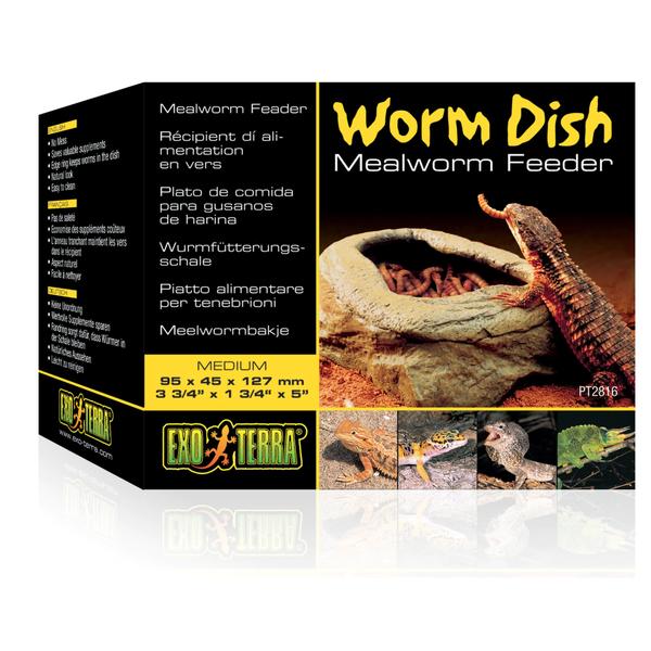 Exo Terra Worm Dish Mealworm Feeder (PT2816)