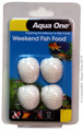 Aqua One Weekend Fish Food Block 20g (95004)