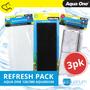 Aqua One AquaStyle 126/380 Refresh Pack inc 1w, 1s & 1c (3pk)