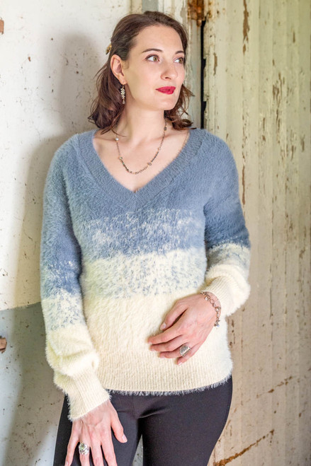 FUZZY COLOR BLEND SWEATER