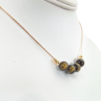 Handmade Tigereye Gold Necklace ~ Earth Song Jewelry