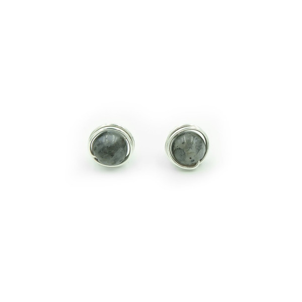 Handmade Labradorite Sterling Silver Post Earrings ~ Earth Song Jewelry