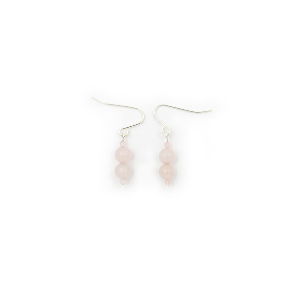 Handmade Rose Quartz Earrings ~ Earth Song Jewelry