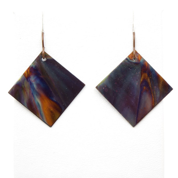 Handmade Fire Torched Painted Earrings ~ Earth Song Jewelry