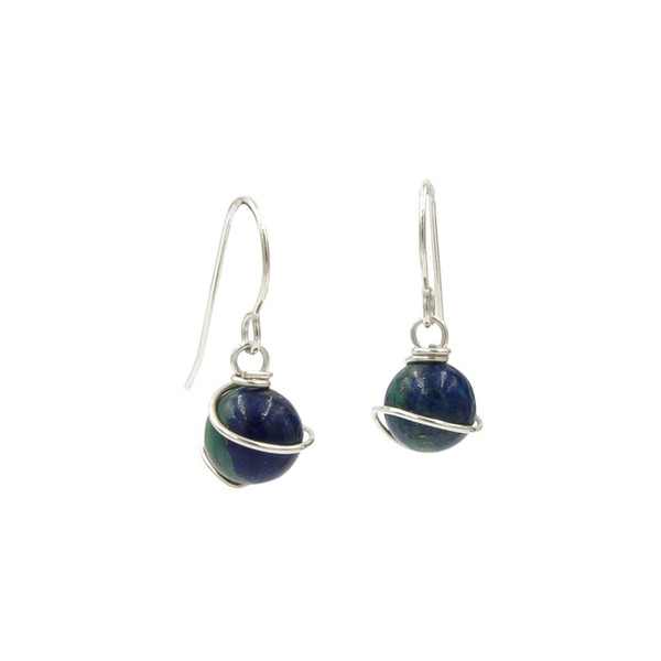 Handmade Azurite sterling silver earrings ~ Earth Song Jewelry