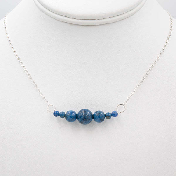 Handmade Denim Lapis Sterling Silver Interchangeable Necklace ~ Earth Song Jewelry