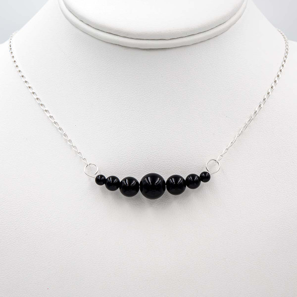 Handmade Black Onyx Sterling Silver Interchangeable Necklace ~ Earth Song Jewelry