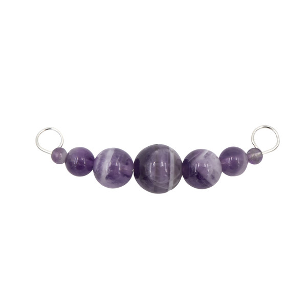 Earth Song Jewelry Interchangeable Amethyst Sterling Silver Necklace Bar