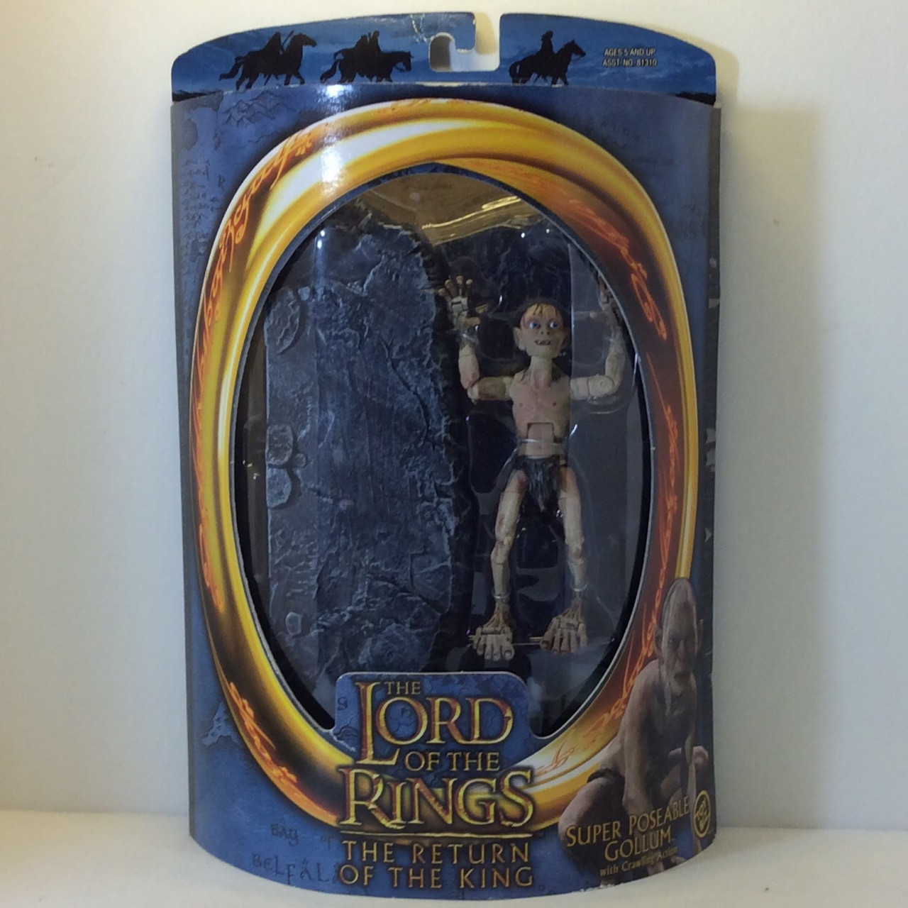 LORD OF THE RINGS RETRUN OF THE KING SUPER POSEABLE GOLLUM SET W//CRAWLING ACTION