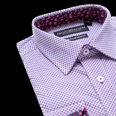 Lay down shot of purple shirt