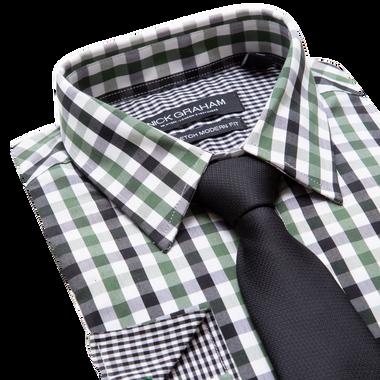 Lay down of green shirt
