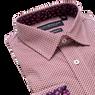 Lay down shot of burgundy shirt
