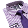 Lay down of purple shirt