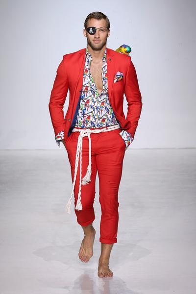 Man in red suit