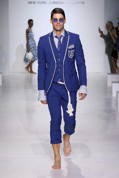 Man in dark blue suit