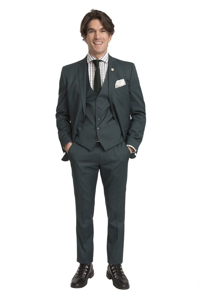 Man in charcoal suit