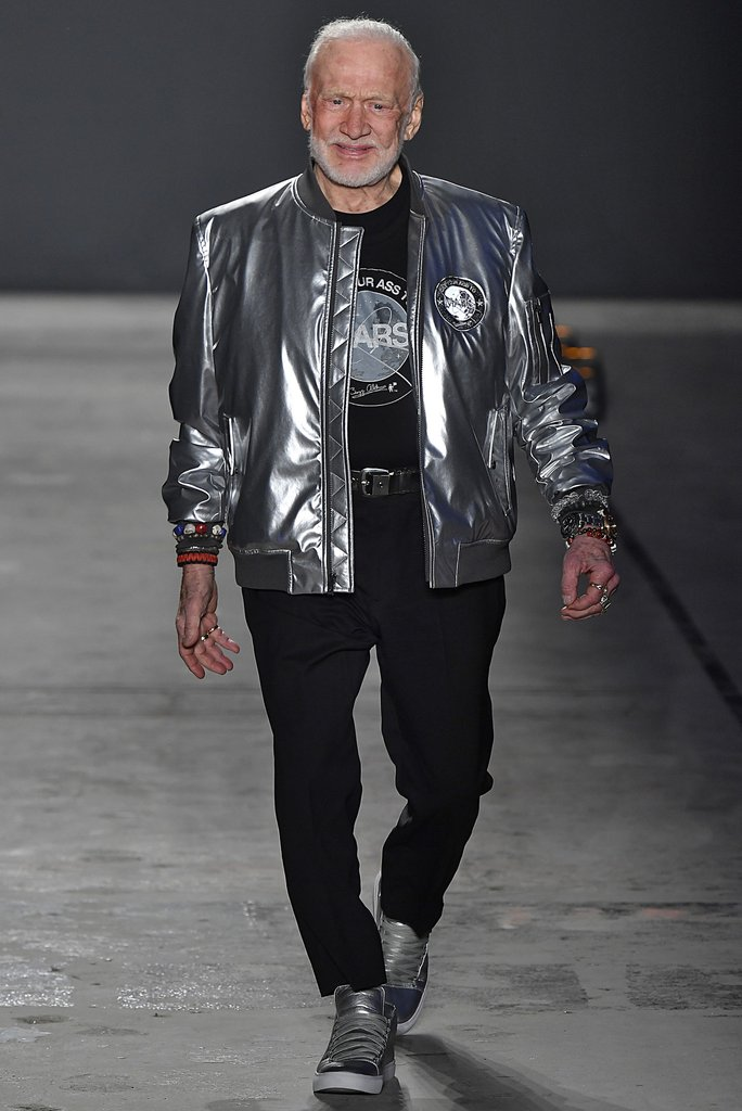 Man in a silver jacket
