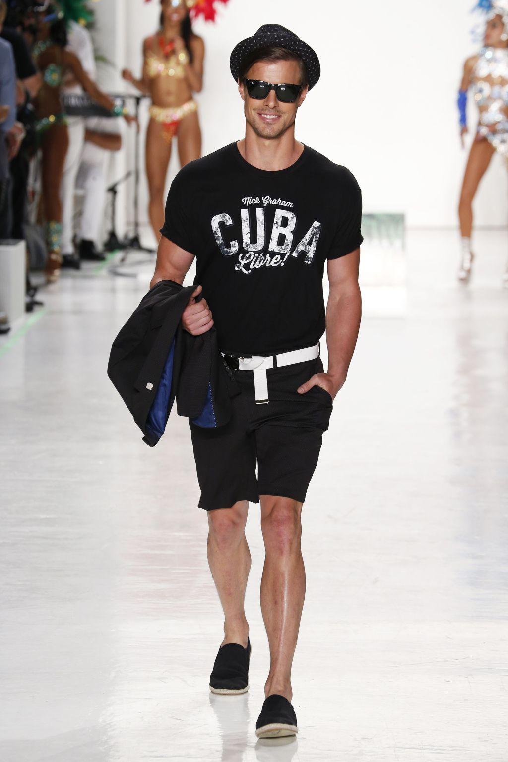 Man in cuba shirt