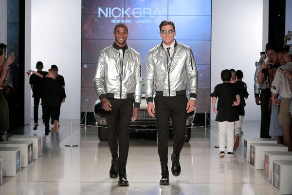 Men in silver coats