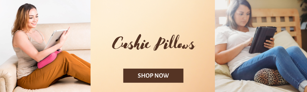 Cushie Pillows 7 inches x 12 inches Microbead Bolster Squishy/Flexible/Extremely Comfortable Roll Pillow