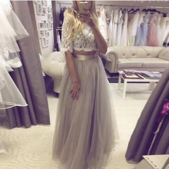 QueenLine Formal Light Gray Bridal Tulle Skirts Ribbon Zipper Style A-line Long Women Tulle Skirt Custom Made High Quality Tutu Saias