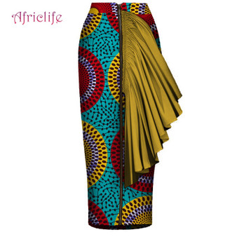 QueenLine Hot Selling New African Women Custom Mid-Calf Length Skirt Sexy Style african print blazers dress African Ankara Skirt WY4408