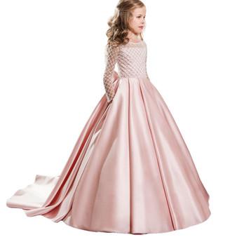 QueenLine Teen Girl Party Dresses Kids Princess Dress Flower Wedding Dress Teenage Fancy Children Costume 5 6 7 8 9 10 11 12 Year