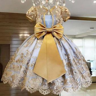 QueenLine Girls Dress Elegant New Year Princess Children Party Dress Wedding Gown Kids Dresses for Girls Birthday Party Dress Vestido Wear