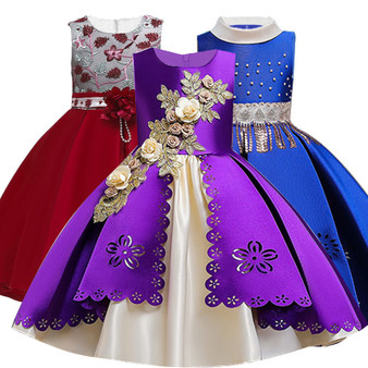 QueenLine 2020 Summer Girls Dress Elegant Tutu Princess Dress Kids Dresses For Girls Costume Wedding Party Children Clothing 3 4 12 Years