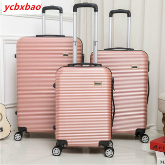 QueenLine 20/24 Inch Rolling Luggage on Wheels ABS+PC Women Travel Suitcase Men Fashion Cabin Women Travelling Luggage Set