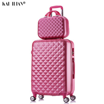 QueenLine 2PCS/SET fashion Cosmetic bag 20/22/24/28 inch girl students trolley case Travel spinner Password luggage woman rolling suitcase