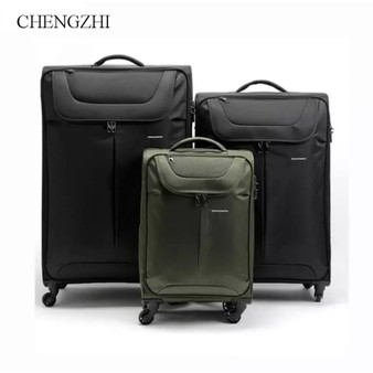 QueenLine  high quality waterproof oxford rolling luggage spinner men women business  high capacity suitcase on wheels