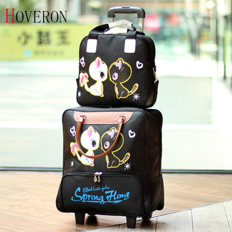 QueenLine Fashion Women Trolley Luggage Rolling Suitcase Travel Hand Tie Rod Suit Casual Rolling Case Travel Bag Wheels Luggage Suitcase