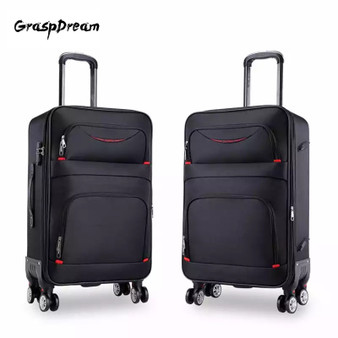 QueenLine New high quality Oxford Rolling Luggage Spinner men Business luxury Suitcase Wheels carry on canvas Cabin Trolley High capacity