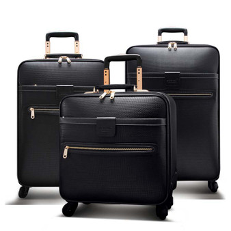 QueenLine Men Business Rolling Luggage Spinner 16 inch Cabin Trolley Password Suitcase Wheels High capacity Travel Bag Trunk