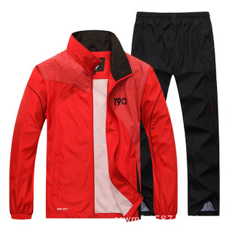 QueenLine 2020 Sport Suit Men Quick Dry Sports Suits Loose Tracksuits Mens Spring Autumn Fitness Running suits Set Warm Jogging Tracksuit