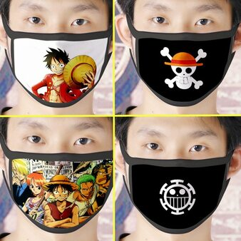 QueenLine Anime ONE PIECE Monkey D. Luffy Pirate Mask Cosplay costume Accessories Unisex Vinsmoke Sanji Skull Masks